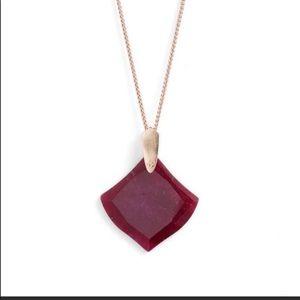 Kendra Scott Aislinn Pendant Necklace -Maroon Jade